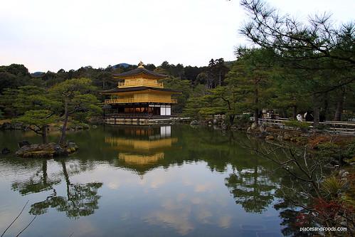 Kinkaku-ji 金閣寺 Golden Pavilion lake overview