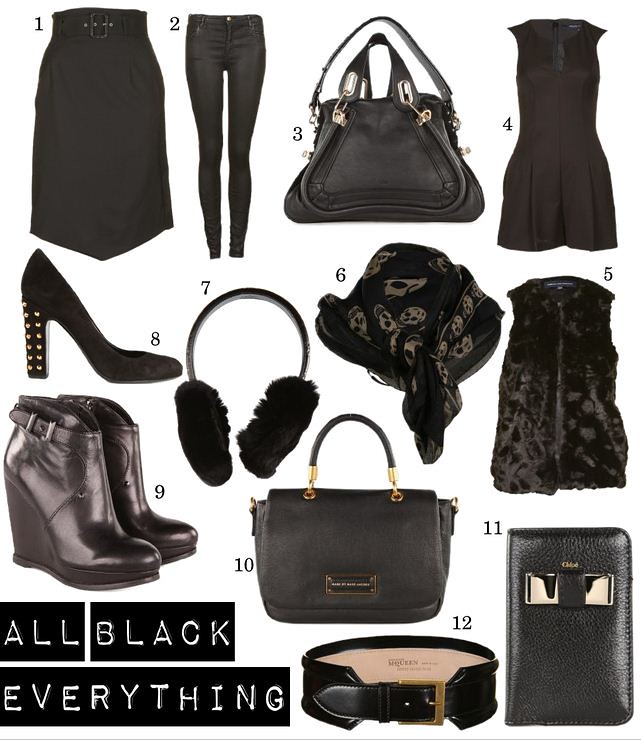 OBSESSION : All Black Everything