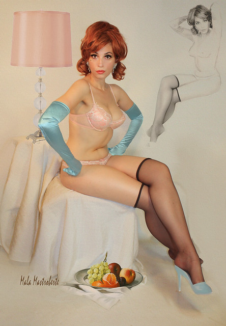 redhead with blue gloves flickr   photo sharing