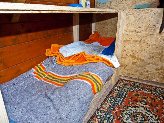 blankets and floor isolation provide comfortable warmth