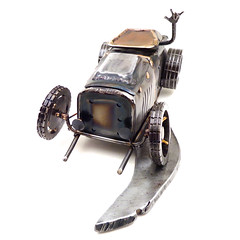 Brown Dog Welding Metal hot rod sculpture