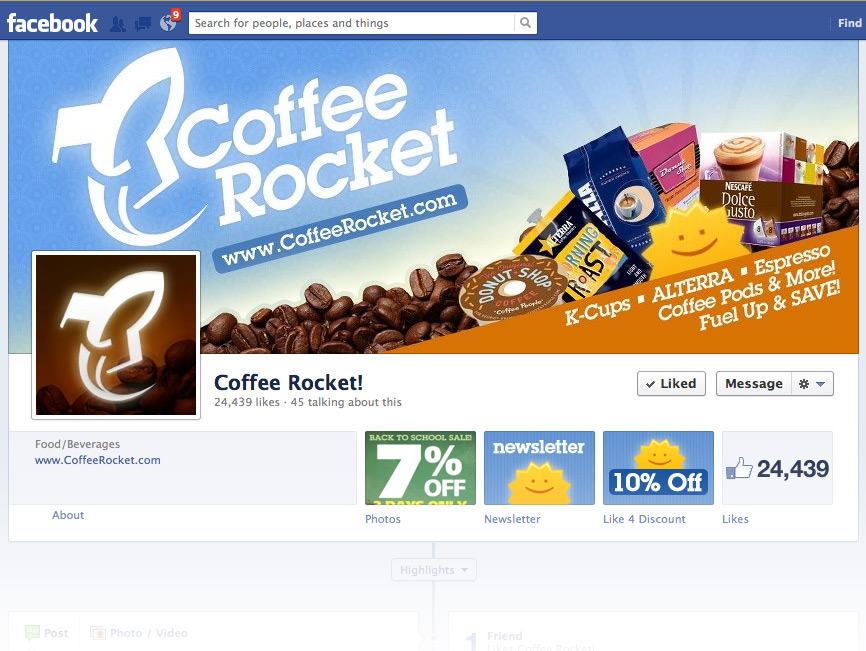 Coffee Rocket Social Media