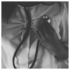 robbie has a stethoscope. #blackandwhite #vscocam
