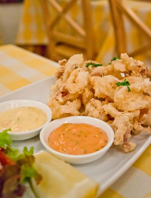 Calamari : fried squid