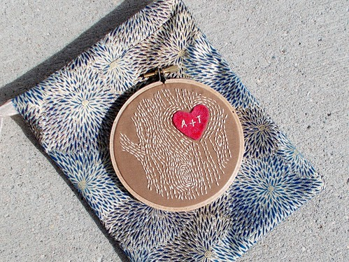 A+T faux bois embroidery hoop