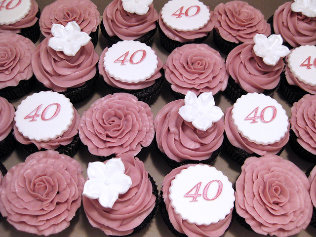 40th Birthday cupcakes Flickr - Photo Sharing!