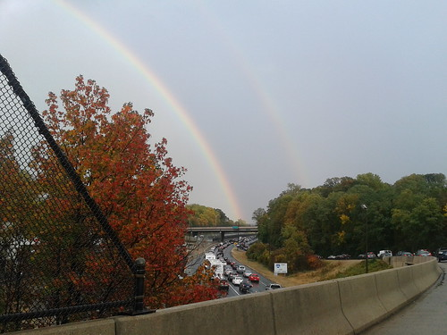 Rainbow over I-66 near EXIT 67