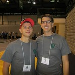 Breck Seitz and Jim Schiffer excited about the arrival of the first year students! --