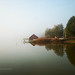 foggy october morning by the lake 329/365 by Ciscolo