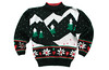 Vintage 80s Mountain Range Tacky Acrylic Ugly Christmas Sweater