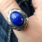 mexican silver lapis lazuli ring from tag sale in East Meadow