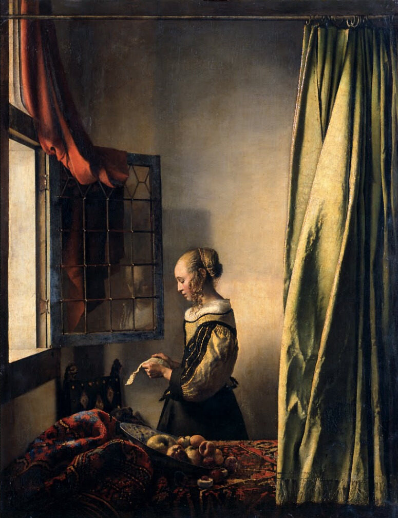 [ V ] Jan (Johannes) Vermeer - Girl Reading a Letter by an Open Window (1659)