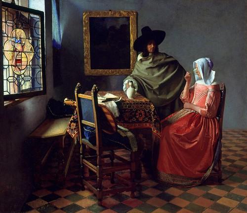 [ V ] Jan (Johannes) Vermeer - The Glass of Wine (1661)