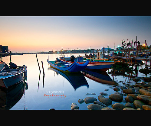 Harbor at Dusk by © Crystal Dawn Photography