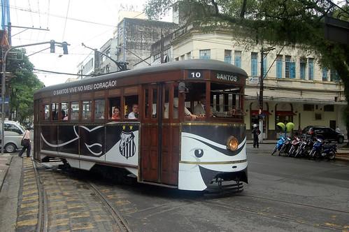 Ein Waggon der Touristenbahn von Santos