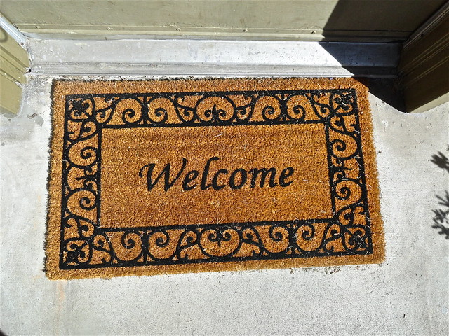 Photo of welcome mat by Lynn Kelley Author