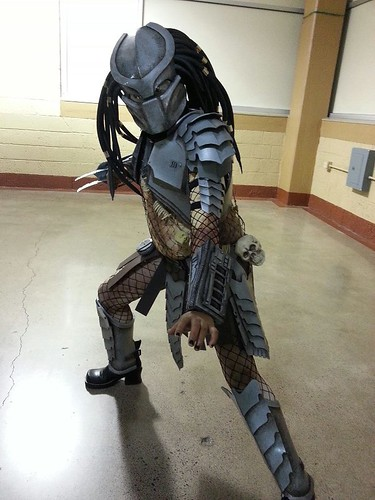 With roughly 4 weeks before Halloween my 10yr old daughter asked me if I could build her an Alien costume. I said  No.  So she asked if I could make her ... & Predator Costume for my 10yr old Daughter - Con photos!