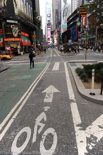 Broadway protected bike lane and plazas-4