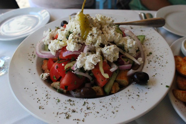 greek salad in Thessaloniki