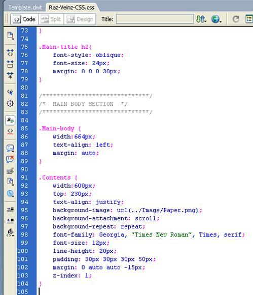 Official Raz Veinz Blogsite » CSS