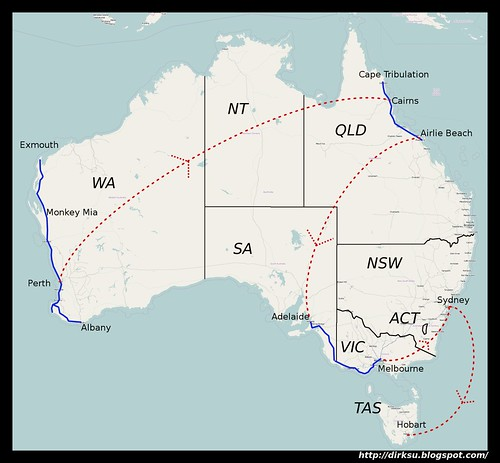 Australia Travel Map 1