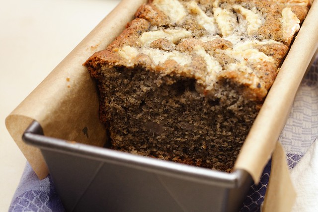 MITCH IN THE KITCHEN : black sesame and pear tea cake