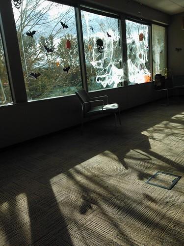 Halloween decor, building 5, Redmond town center, Washington, USA by Wonderlane