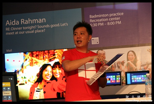 Danny Ong (Chief Marketing & Operations Officer) showcase all the upcoming devices with Microsoft Windows 8!