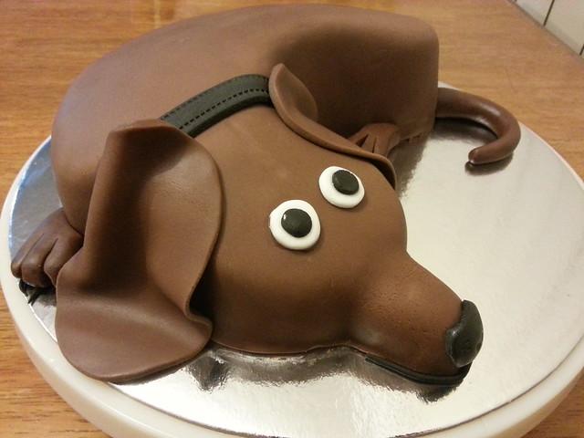 Sausage Dog Birthday Cake