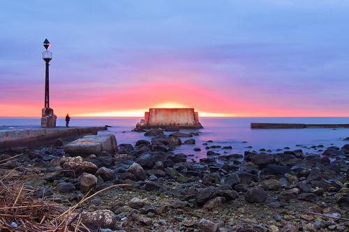 sea sky sunrise mar rocks amanecer cielo 3200 malaga rocas termica quinoal espigondelatermica pantalandelatermica amanecerenmalaga