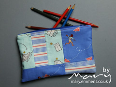 Scrappy zip pouch - boy