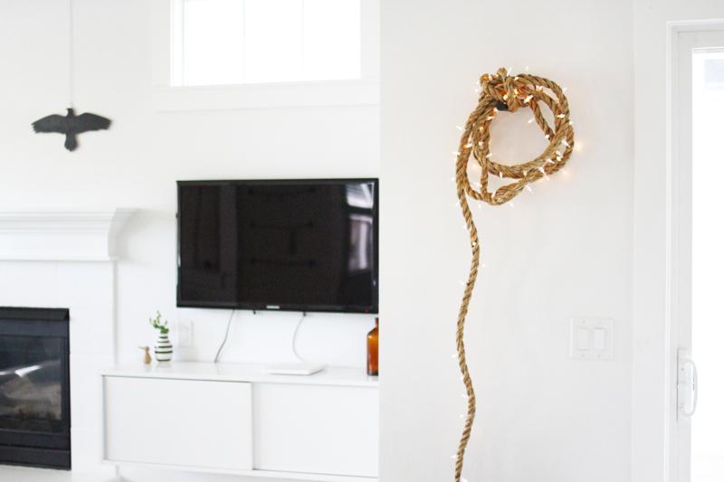 AMM blog: DIY: rope light strand on bar signs, bar pendants, bar neon, bar cabinet lighting, bar accessories, bar lamps, bar chandeliers, bar lighting fixtures, bar granite countertops,
