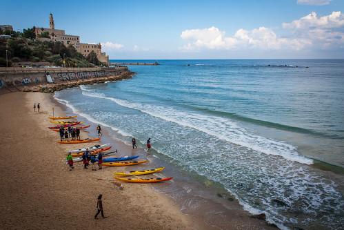 sea israel telaviv kayak joe mosque jaffa yafo mediterraneancoast canonxsi aviewpointtowardstheoldjaffa