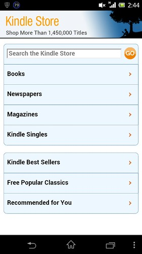 Amazon.com on Kindle