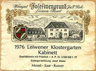 1976 - Leiwener Klostergarten (Mosel)