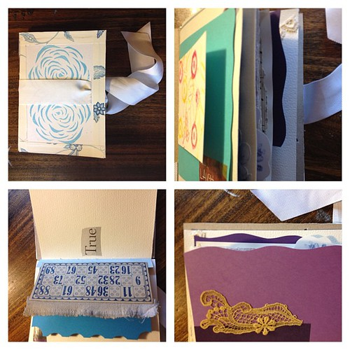Making a handmade journal for a friend #books #art