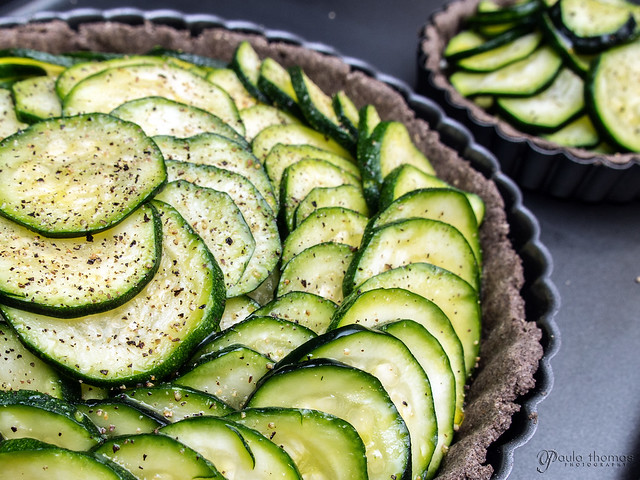 Zucchini Tart Ready to Bake
