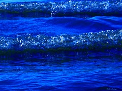 Waves Like Bubble Ice-Deep Blue-Kellie Hastings