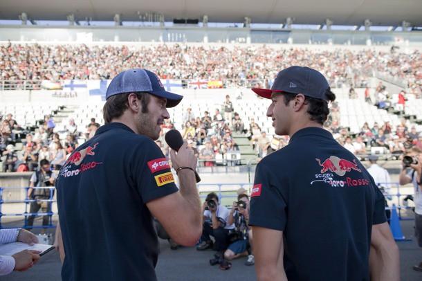 Daniel Ricciardo y Jean-Éric Vergne