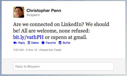 Twitter / cspenn: Are we connected on LinkedIn? ...