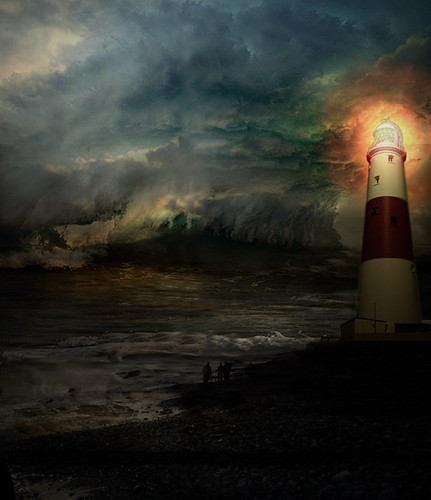 A lighthouse in the storm