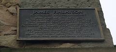Photo of James Finlayson bronze plaque