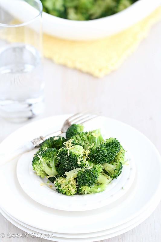 Cookin Canuck Lemon Pepper Steamed Broccoli Recipe