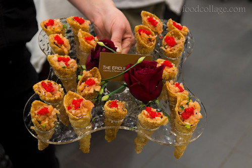 Salmon Tartare Cones by The Epicure's Palate at Pittsburgh Restaurant Week Kickoff Party