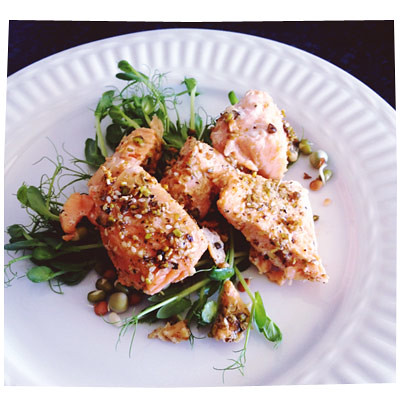 Salmon with Dukkah