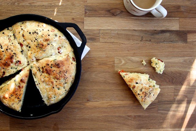 roasted red pepper skillet scones