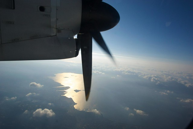 鹿児島から屋久島への機内