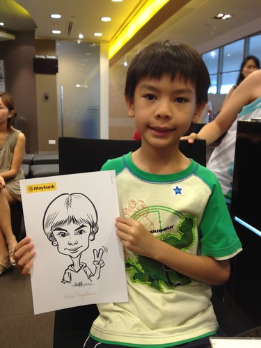 caricature live sketching for Maybank Roadshow - 4