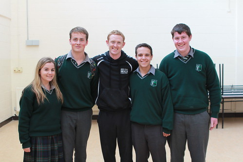 Colm Cooper with Anna Moran, Oisin Shortt, Craig O Driscoll, and Eoin Tierney