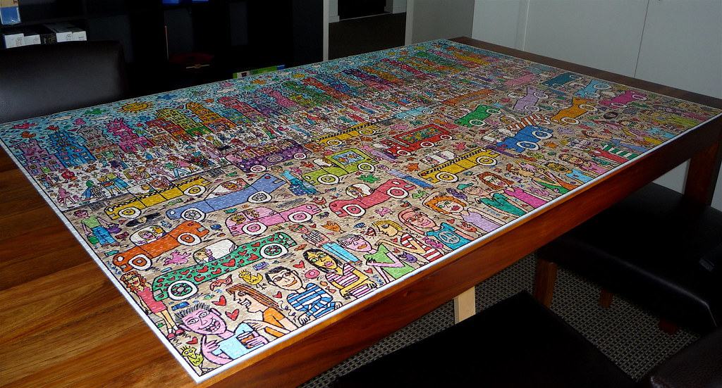 Nothing is as pretty as a rizzi city ravensburger 5000 for Custom 5000 piece puzzle